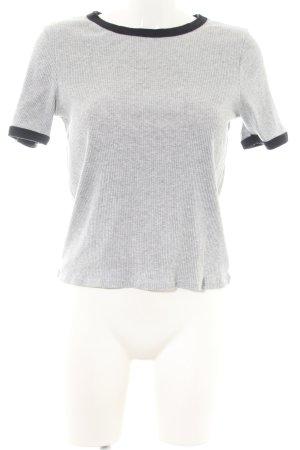 H&M Divided Chemise côtelée gris clair-noir moucheté style décontracté