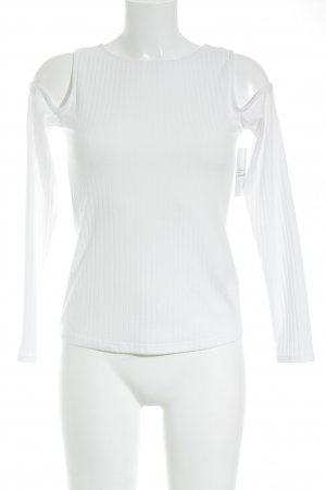 H&M Divided Camisa acanalada blanco look casual