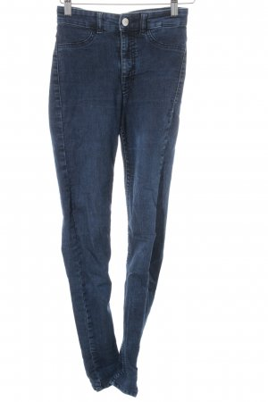 H&M Divided Röhrenjeans blau Jeans-Optik