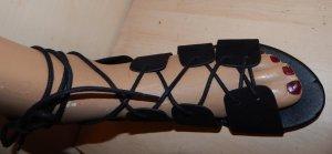 H&M Divided Sandalo romano nero Finta pelle