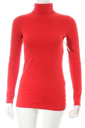 H&M Divided Rollkragenshirt rot klassischer Stil