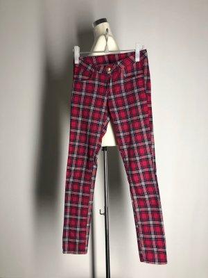 H&M Divided Drainpipe Trousers multicolored cotton