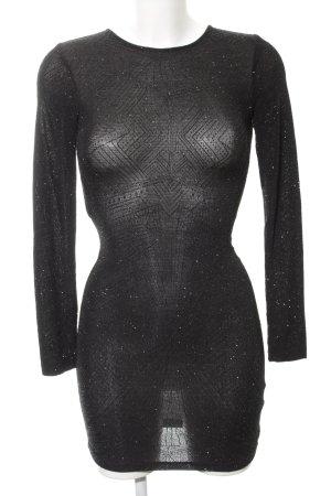 H&M Divided Vestido de tubo negro-color plata