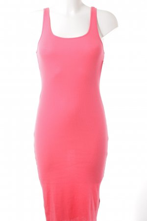 H&M Divided Tube Dress neon red casual look