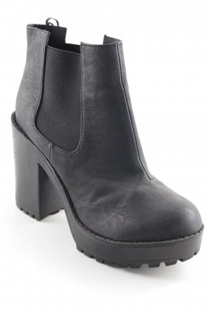 H&M Divided Schlüpf-Stiefeletten schwarz Street-Fashion-Look