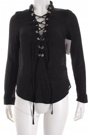 H&M Divided Blusa caída negro look Street-Style