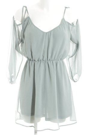 H&M Divided Off the shoulder jurk turkoois elegant