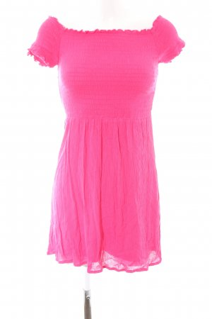 H&M Divided schulterfreies Kleid pink Casual-Look