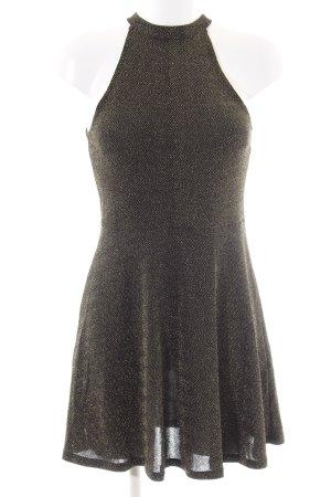H&M Divided Vestido strapless marrón-color oro look casual