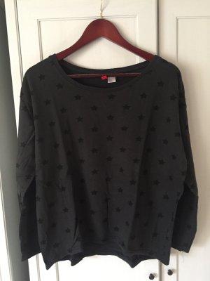 H&M Divided, schwarzes Sweatshirt mit Sternchen