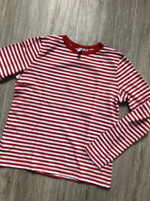 H&M Divided Gestreept shirt wit-rood