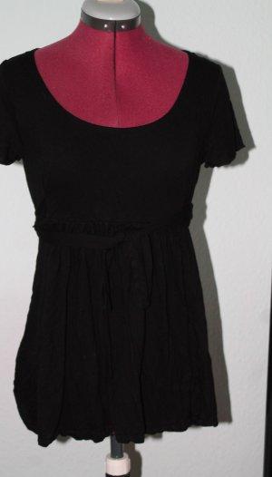 H&M Divided Shirt mit Bindegürtel, Viskose ,schwarz