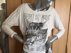 H&M Divided Shirt mit Print und großem Rückenausschnitt Gr. S