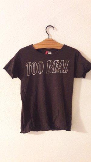 H&M Divided Shirt T-Shirt Too Real Grunge Acid 90s 90er Retro