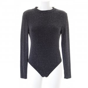 H&M Divided Shirt Body black-silver-colored glittery