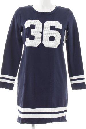 H&M Divided Shirt Dress dark blue-white printed lettering