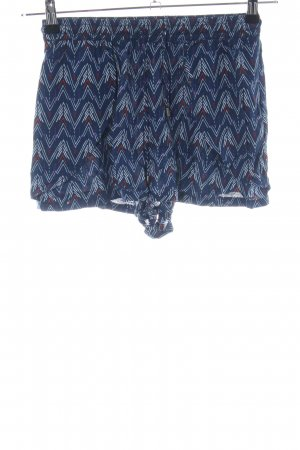 H&M Divided Shorts blue-red graphic pattern casual look
