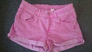 H&M Divided Shorts Jeans Denim Pink Jeansshirts Hotpants 36