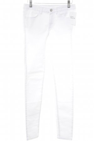 H&M Divided Skinny Jeans weiß-silberfarben Casual-Look