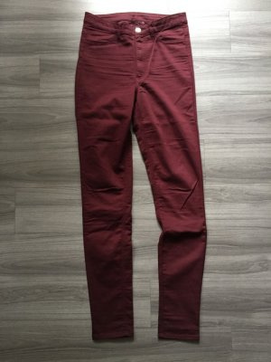 H&M Divided Skinny Jeggins/Jeans dunkelrot 38