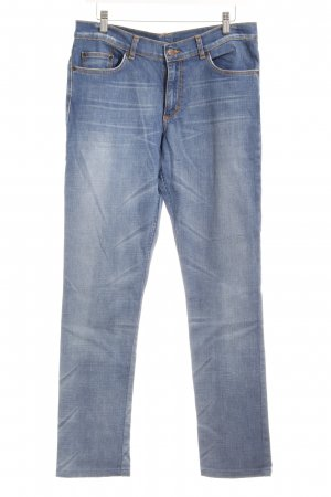 H&M Divided Slim Jeans blau Casual-Look