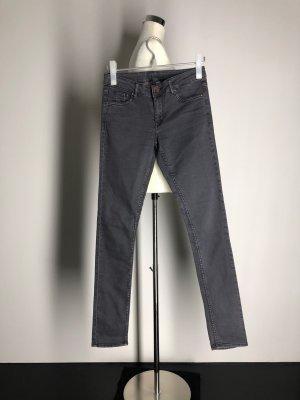 H&M Divided Slim Jeans, grau