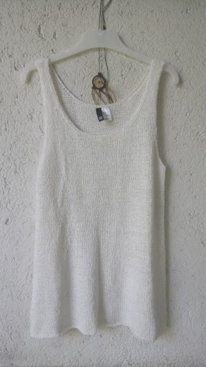 H&M Divided Haut en crochet blanc-blanc cassé