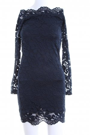 H&M Divided Spitzenkleid blau Blumenmuster Elegant