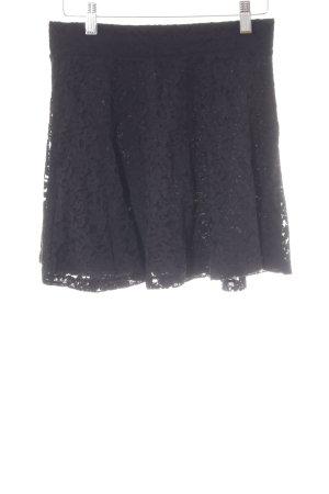 H&M Divided Lace Skirt black elegant