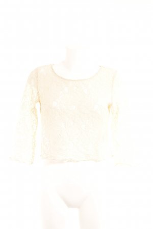 H&M Divided Spitzentop creme Romantik-Look
