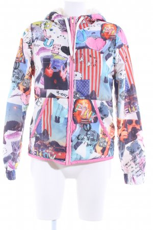 H&M Divided Steppjacke Allover-Druck Street-Fashion-Look