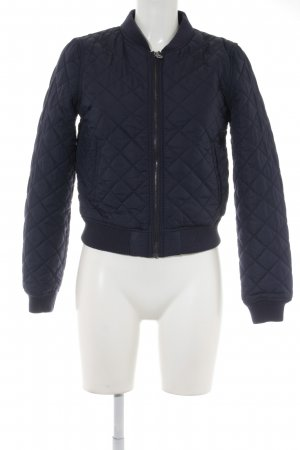 H&M Divided Quilted Jacket dark blue quilting pattern casual look