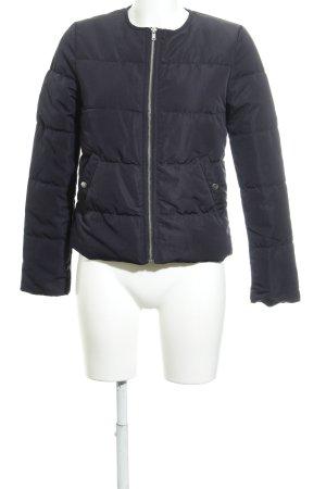 H&M Divided Gewatteerd jack donkerblauw quilten patroon klassieke stijl