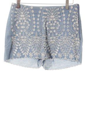 H&M Divided Stoffhose kornblumenblau-weiß Street-Fashion-Look