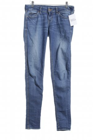 H&M Divided Straight-Leg Jeans blau Street-Fashion-Look