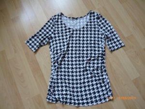 H&M Shirt black-white mixture fibre