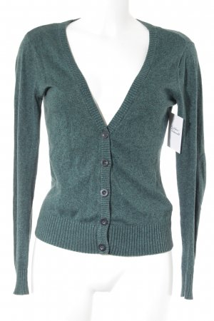 H&M Divided Cardigan forest green-black flecked casual look