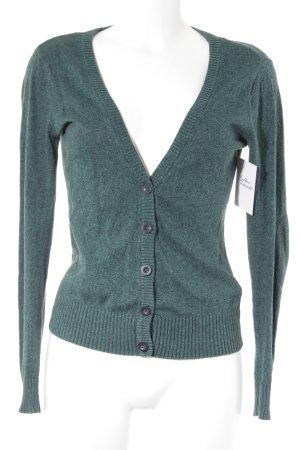 H&M Divided Strickjacke waldgrün-schwarz meliert Casual-Look