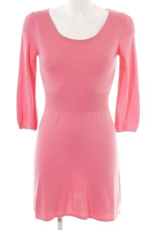 H&M Divided Strickkleid neonpink Casual-Look