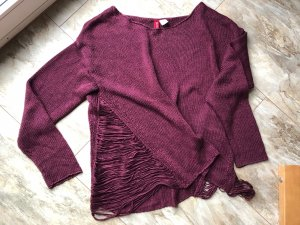 H&M Divided Strickpullover Gr. M Bordeauxrot