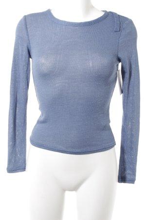 H&M Divided Camisa tejida azul aciano look casual