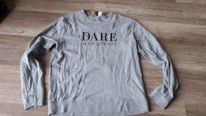 H&M Divided Sweat Sweater Sweatshirt Pulli Pullover Dare Slogan Statement L