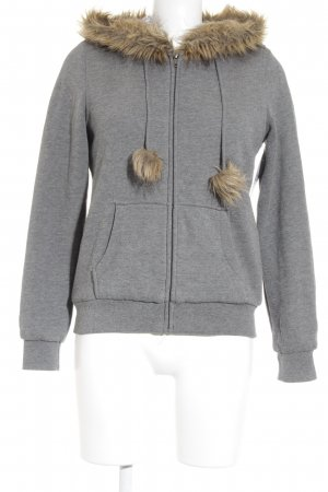 H&M Divided Sweatjacke grau Casual-Look