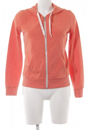 H&M Divided Sweatjacke orange sportlicher Stil