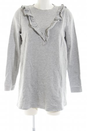 nouveau pas cher belle qualité belle et charmante H&M Divided Robe Sweat gris clair moucheté style décontracté