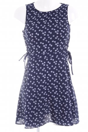 H&M Divided Sweat Dress dark blue-white floral pattern street-fashion look
