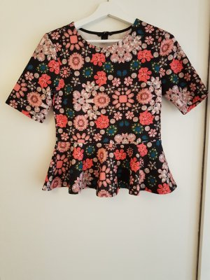 H&M Divided T-Shirt Blumenmuster
