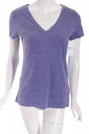 H&M Divided T-Shirt stahlblau meliert Casual-Look
