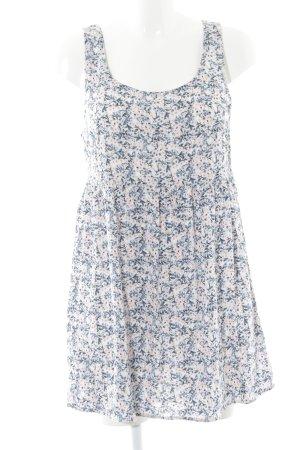 H&M Divided Trägerkleid kornblumenblau-hellrosa Blumenmuster Casual-Look