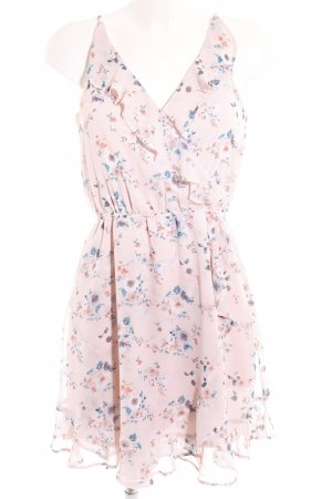 H&M Divided Trägerkleid rosé Allover-Druck Romantik-Look